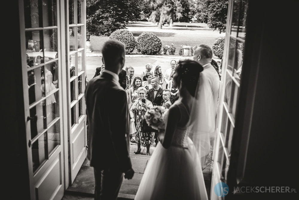 fotograf slubny warszawa 09 - Klaudia i Kamil   Ślub w Pałacu w Jabłonnie