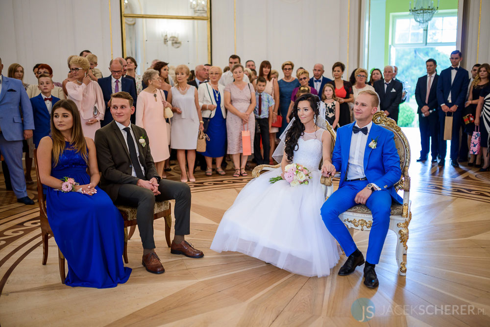 fotograf slubny warszawa 16 - Klaudia i Kamil   Ślub w Pałacu w Jabłonnie