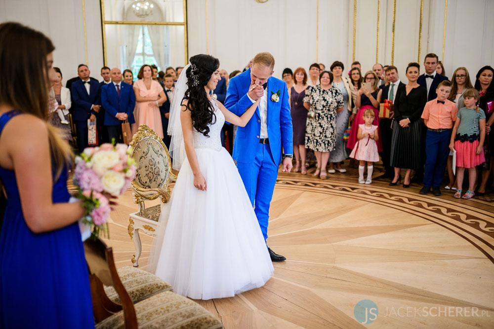 fotograf slubny warszawa 22 - Klaudia i Kamil   Ślub w Pałacu w Jabłonnie