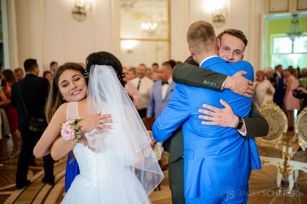fotograf slubny warszawa 30 - Klaudia i Kamil   Ślub w Pałacu w Jabłonnie